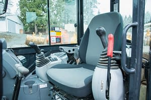 inner cab of a heavy machine